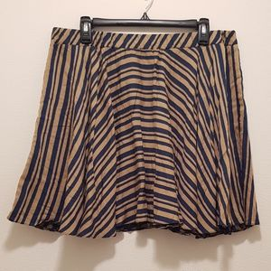 NWOT Asos Circle Skirt with Stripes Navy & Bronze
